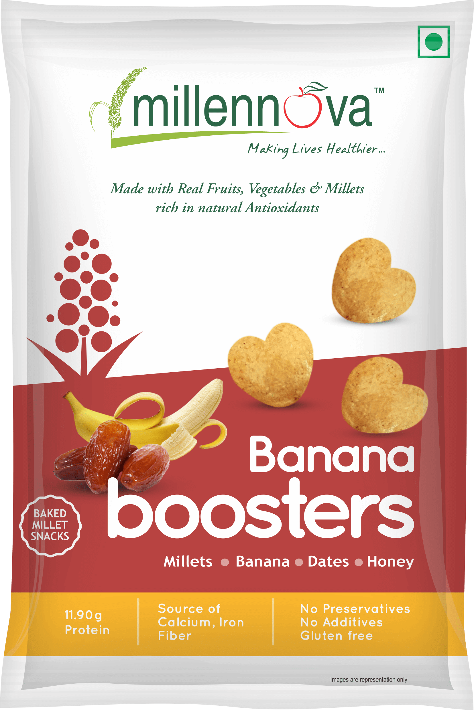 Banana Boosters – Made with Millets, Bananas, Dates, Honey
