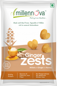Ginger Zests- Made with Millets, Ginger, Honey & Pulses